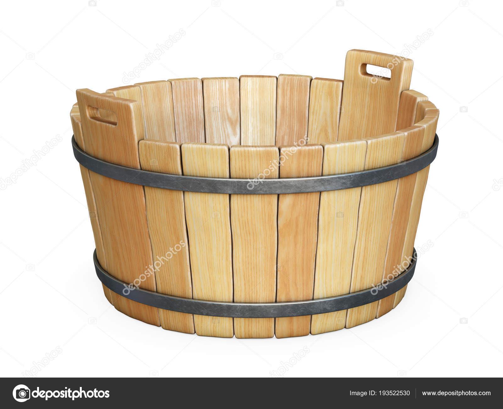 Vasca Da Bagno Bassa : Vasca bagno legno isolato priorità bassa bianca rendering u2014 foto