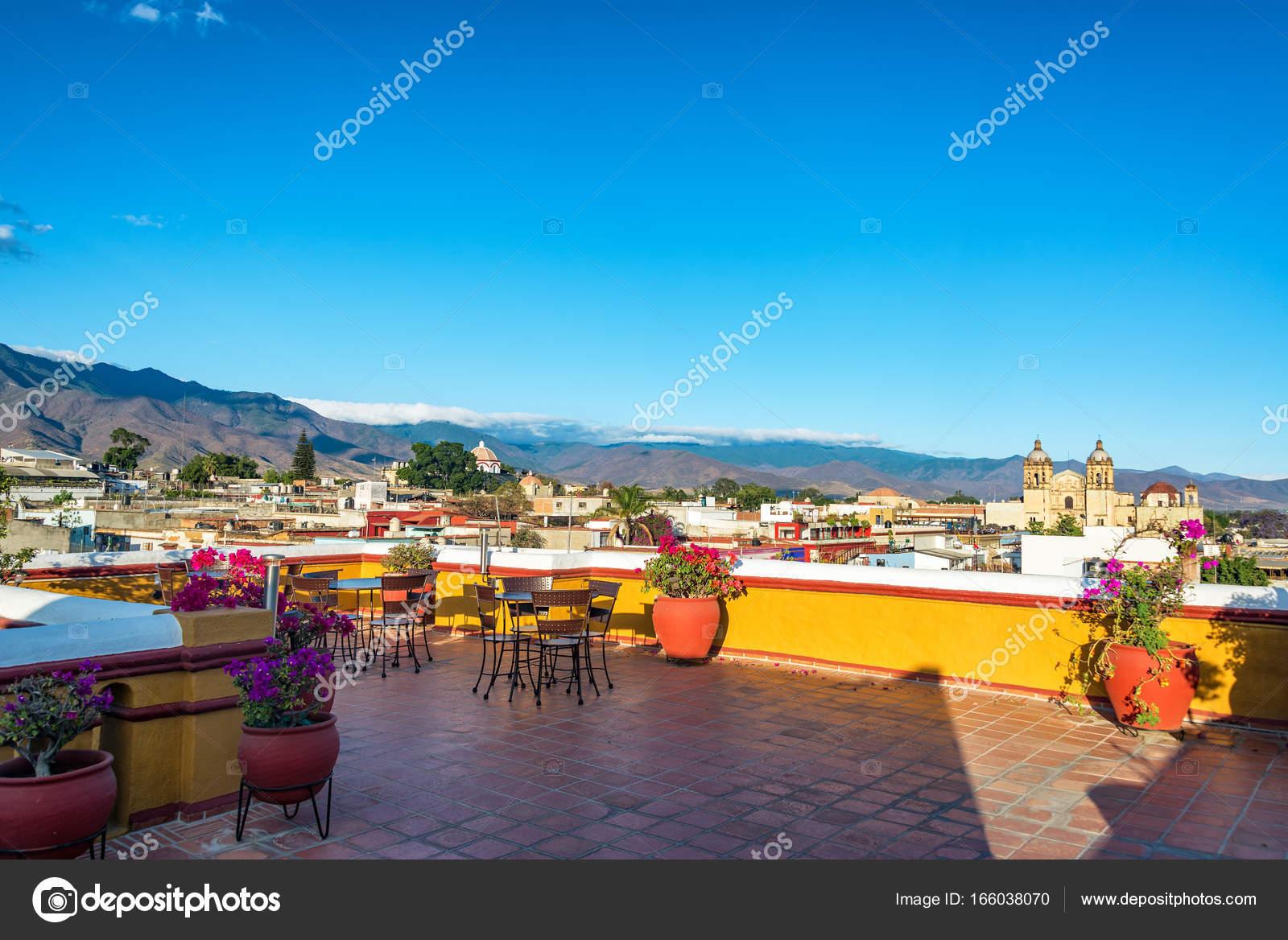 Turismo Panoramico De Oaxaca Terraza En La Azotea En