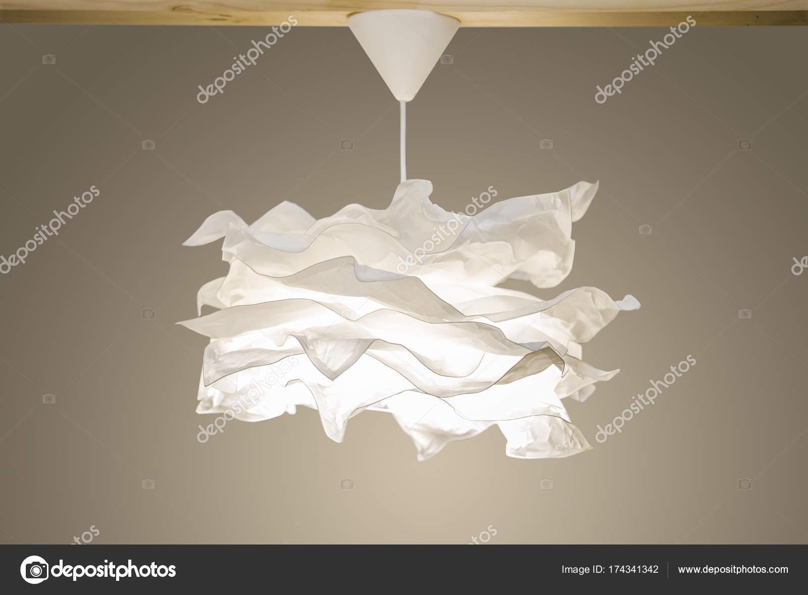 Kronleuchter Modern Version ~ Weiße moderne anhänger licht papier kronleuchter im skandinavischen