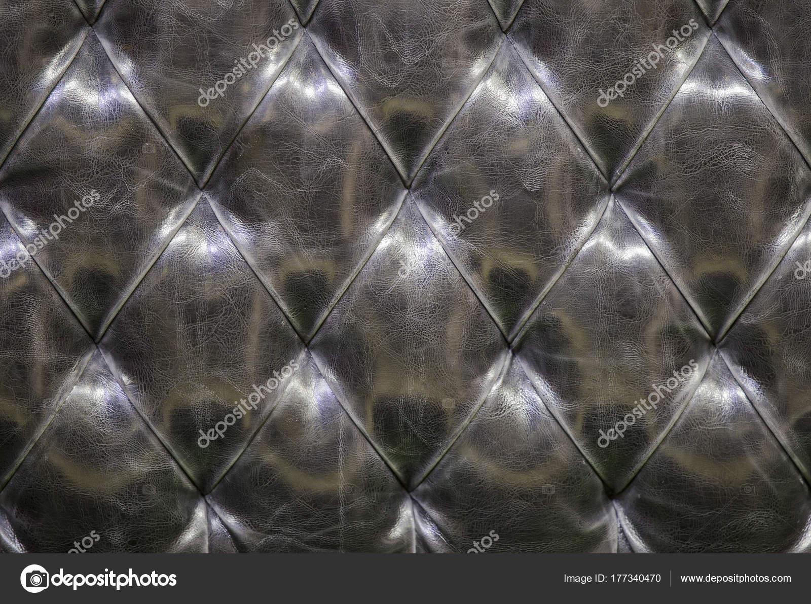 Leder Sofa Textur Hintergrund Schwarz Graue Gesteppte Leder Muster