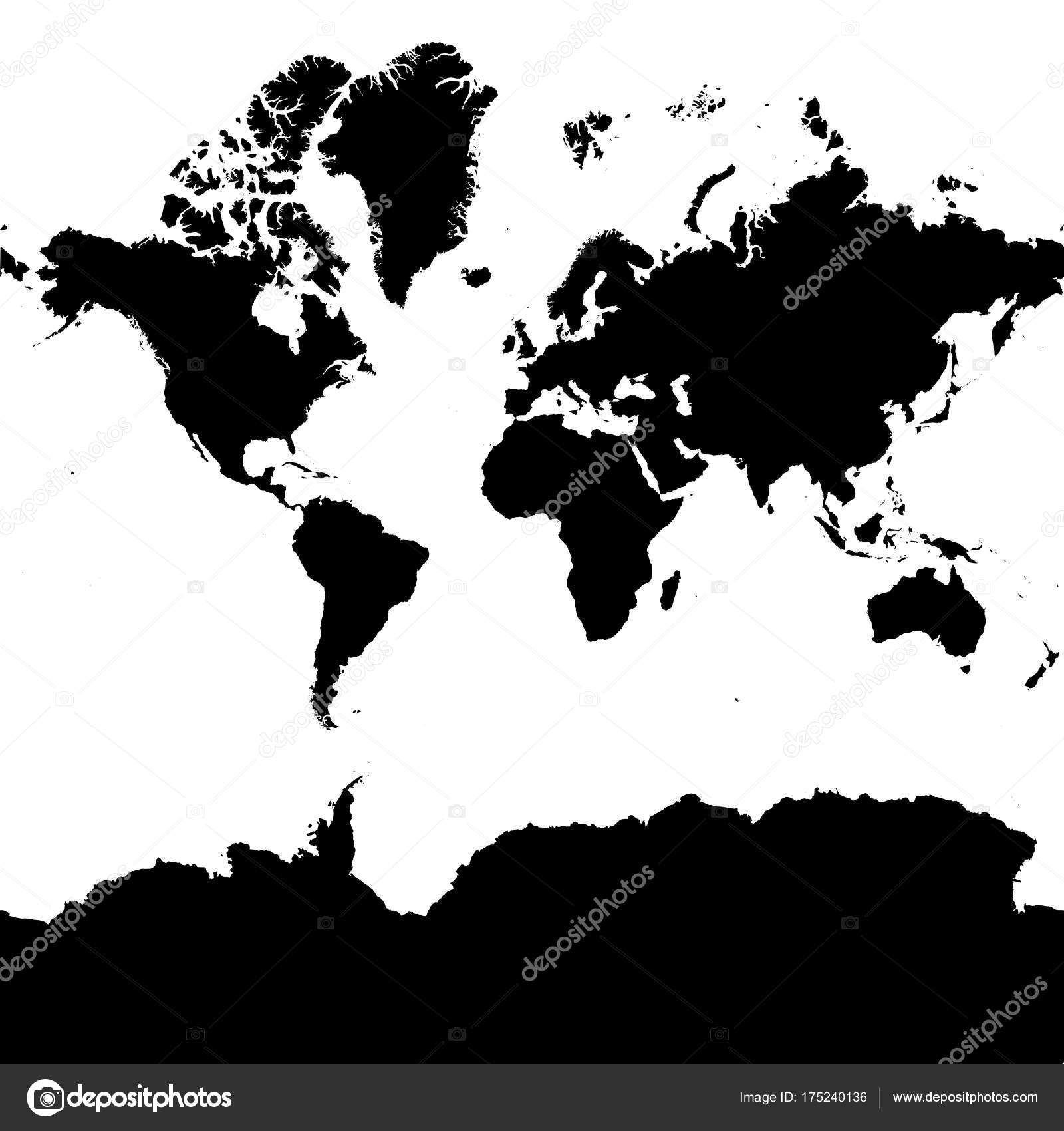Highly detailed continent silhouette world map eps 10 vector highly detailed continent silhouette world map eps 10 vector stock vector gumiabroncs Images