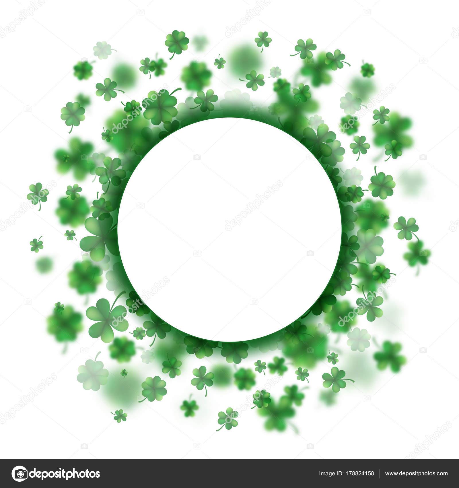 lucky spring design with shamrock clover round border eps 10 vector stock vector