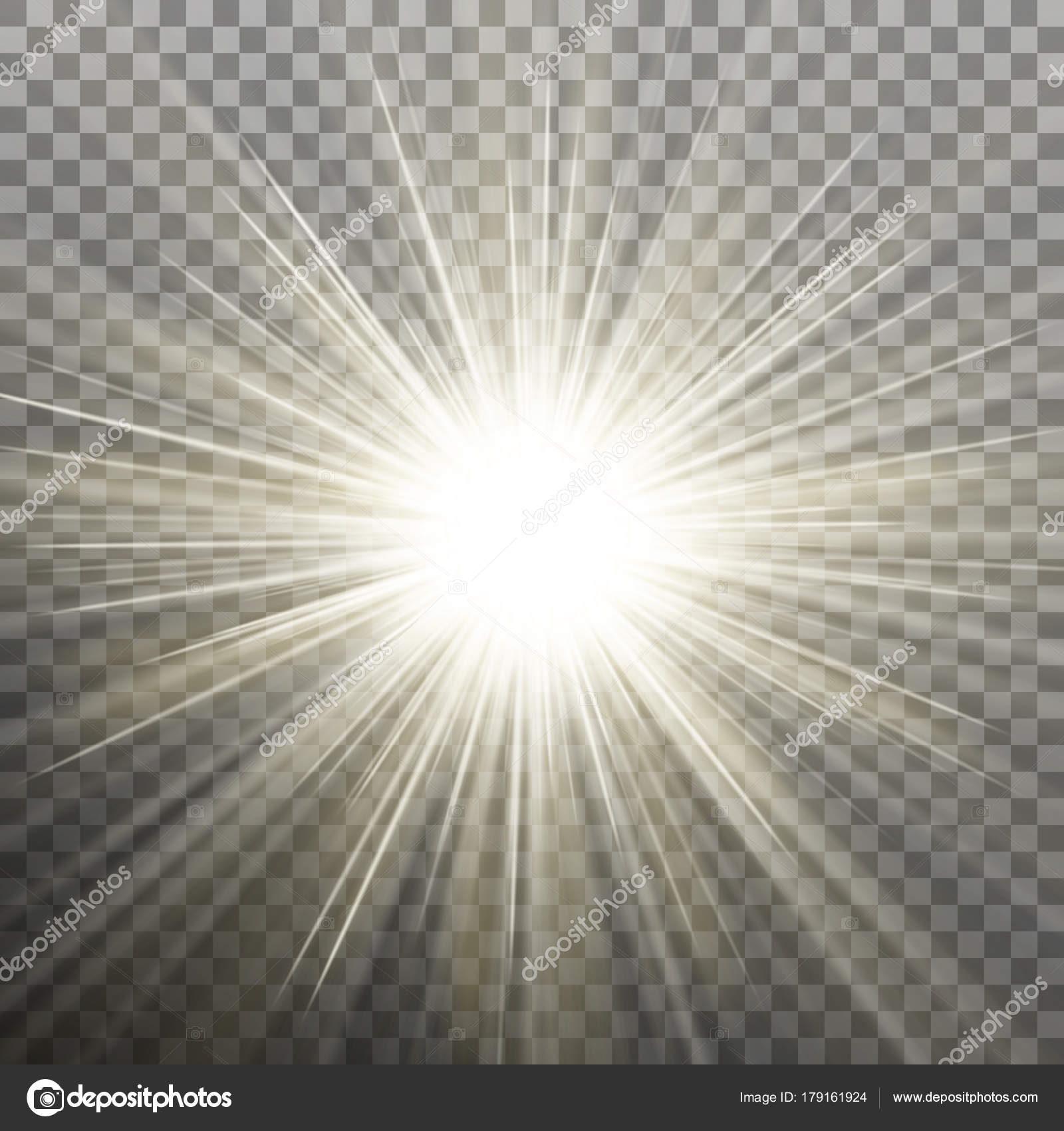 Glowing light burst effect with on transparent background eps 10 vector stock vector