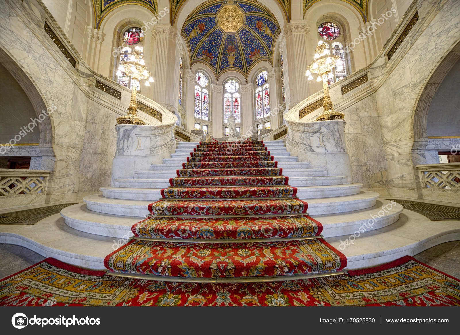 Miraculous Stairs Of The Main Hall Of The Peace Palace Stock Home Interior And Landscaping Ponolsignezvosmurscom