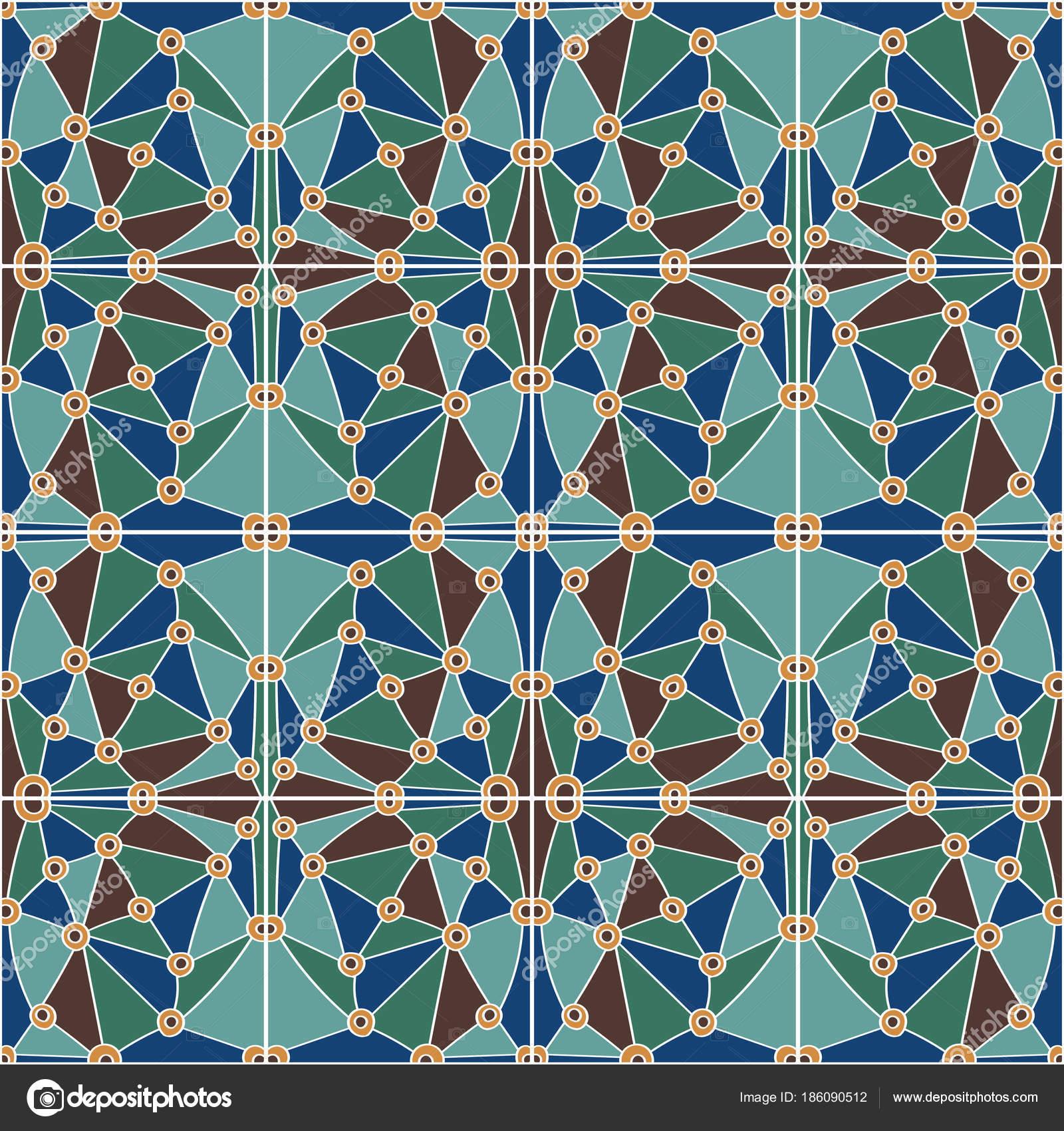 Vector Hand Drawn Seamless Pattern Tiles Oriental Ornament Imitation ...