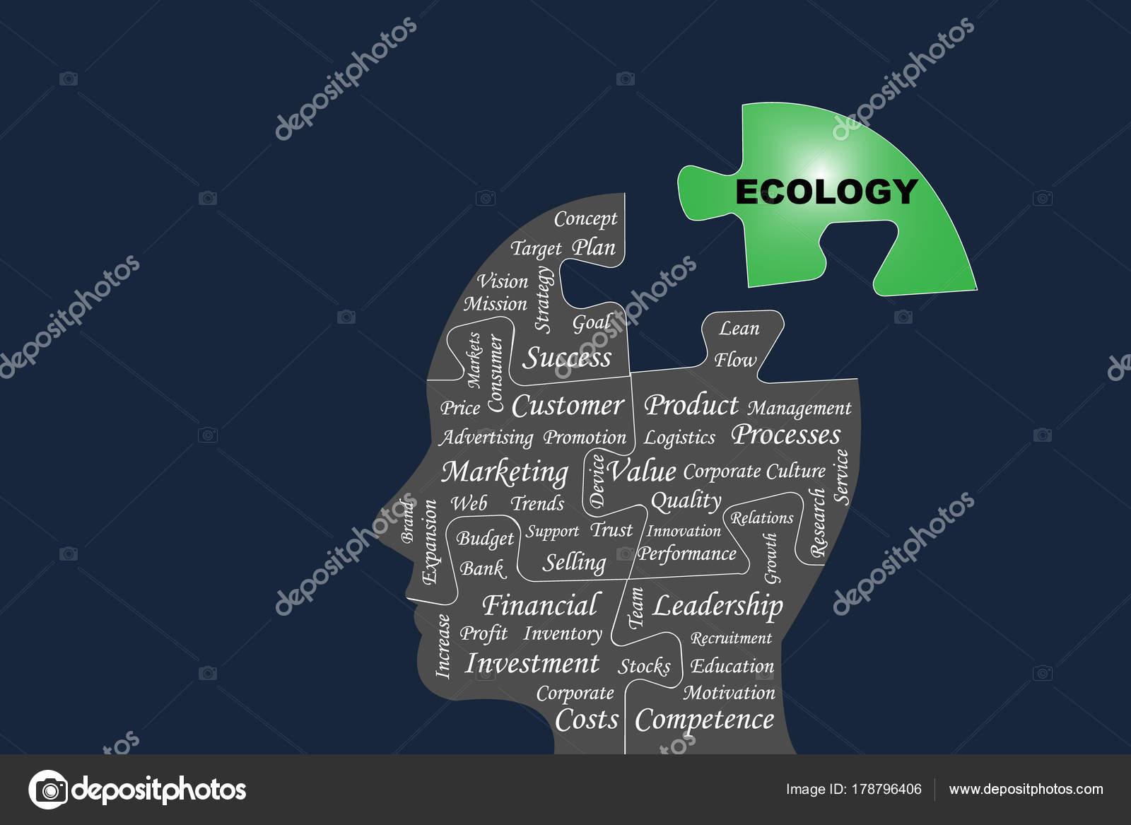 Pensamiento ecológico negocio concepto Vector — Archivo Imágenes ...