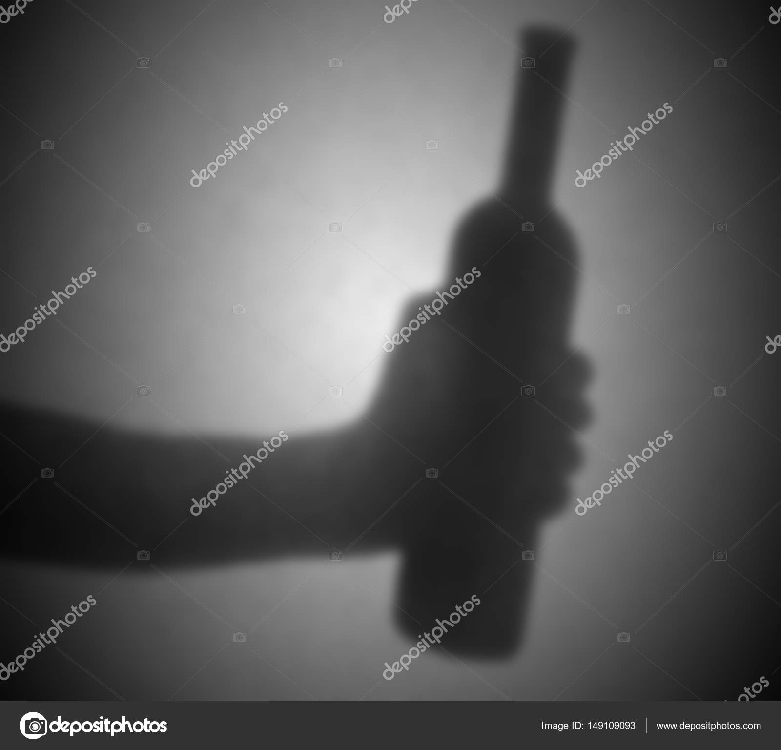 Silhouette behind a transparent paper, blurred — Stock Photo