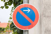 Fotografie Road sign, prohibitory sign - No parking