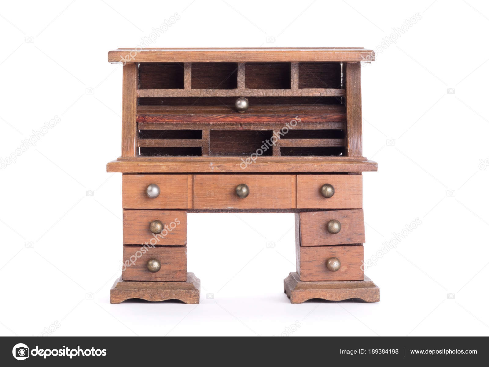 Scrivania Vintage Legno : Piccola scrivania vintage u foto stock michaklootwijk