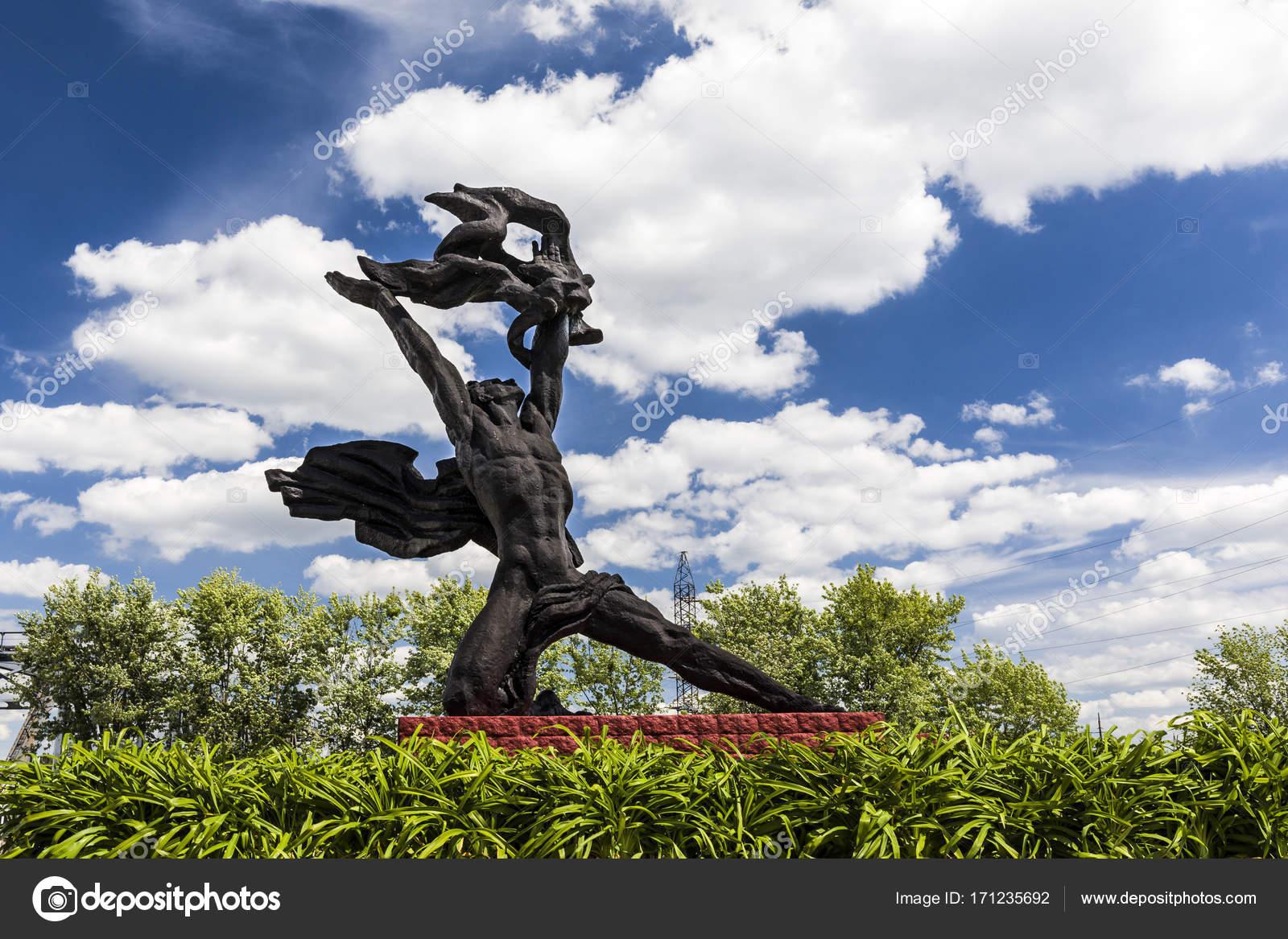 Prometeusz Pomnik W Czarnobylu Zdjęcie Stockowe Ginkgofoto