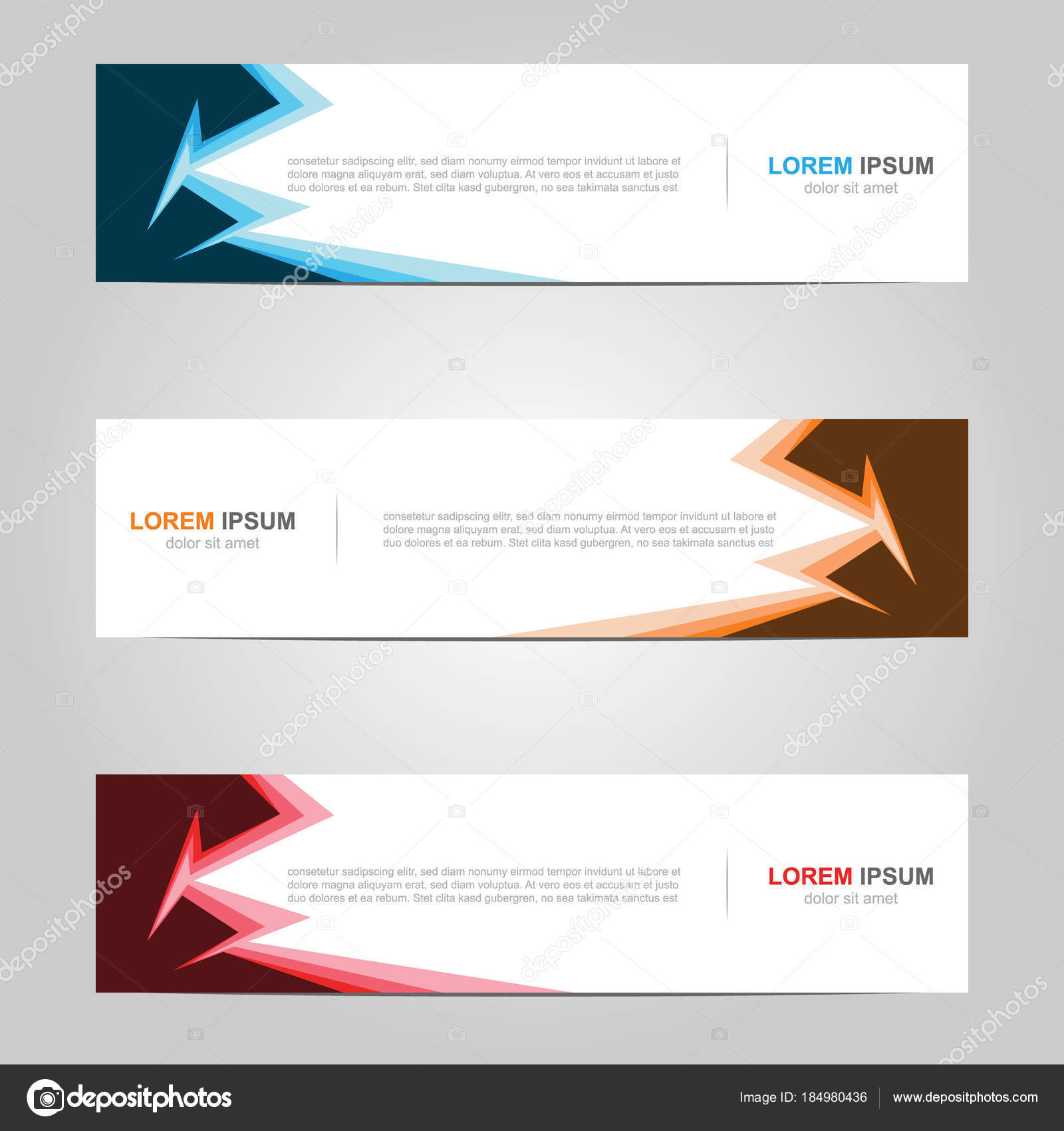 modern banner template design creative abstract background stock