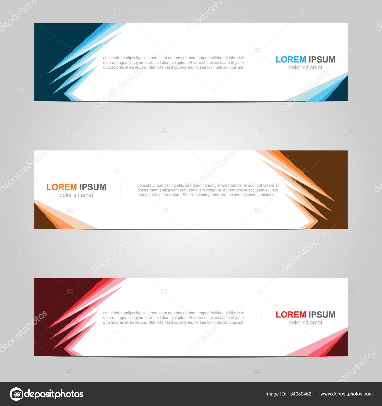 Modern Banner Template Design Creative Abstract Background
