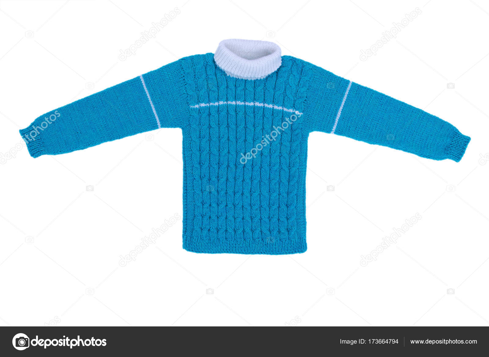 Suéter tejidos niños aislar sobre fondo blanco — Fotos de Stock ...