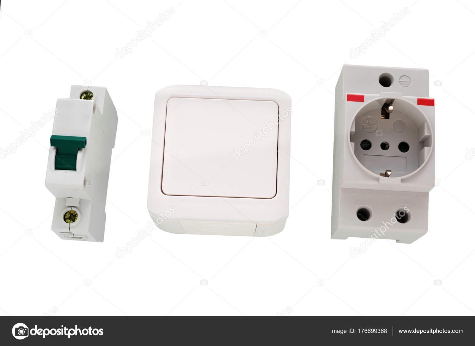 Elektrische Schalter und Steckdose, Steckdose — Stockfoto © romiri ...