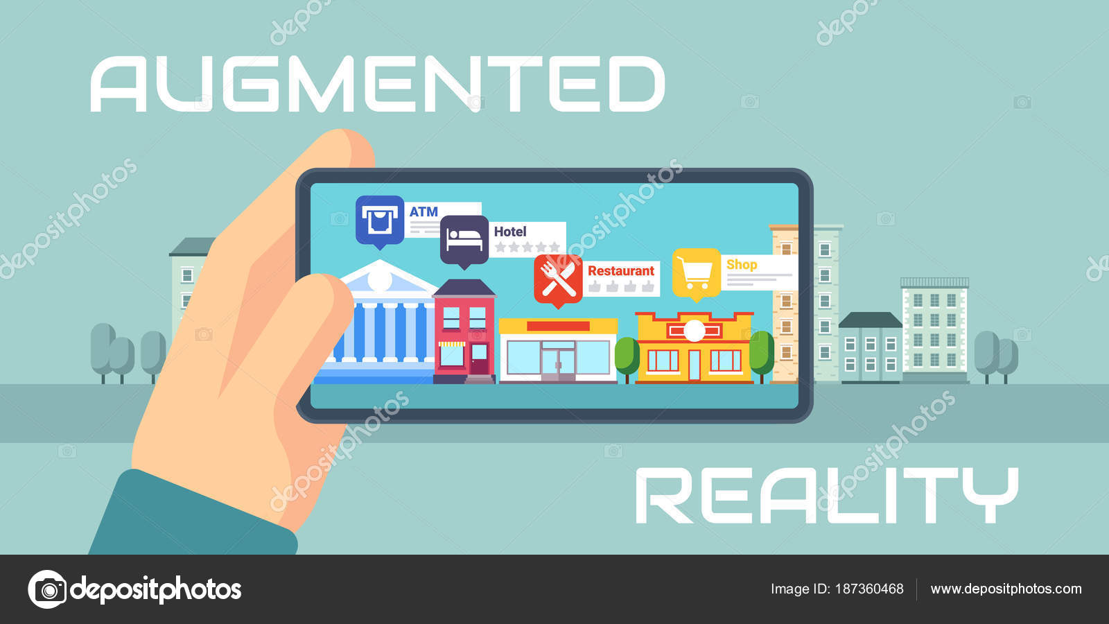 Augmented Reality Concept Stock Vector Rikitikitao At Gmailcom