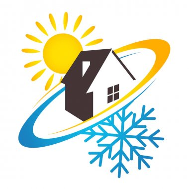 Air conditioning and ventilation system at home clip art vector