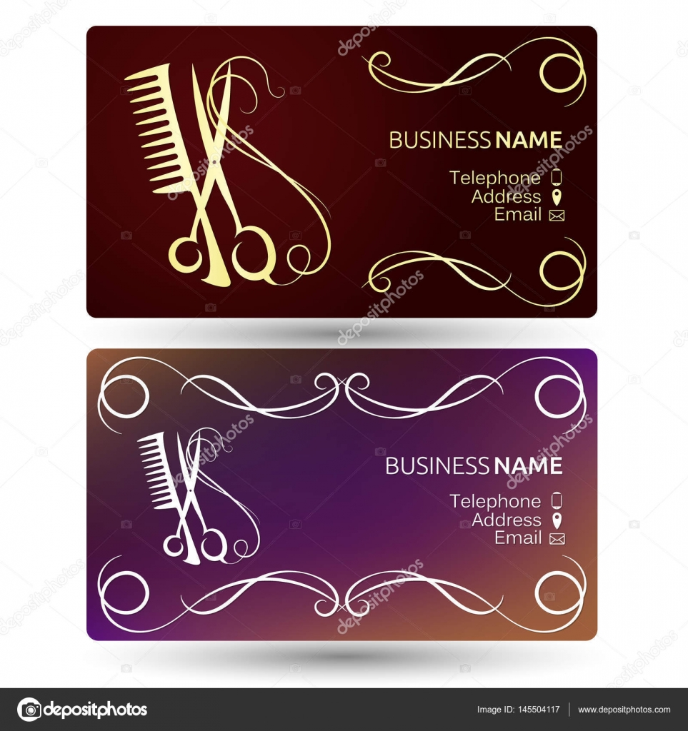 Beauty salon business card template — Stock Vector © john1279 #145504117