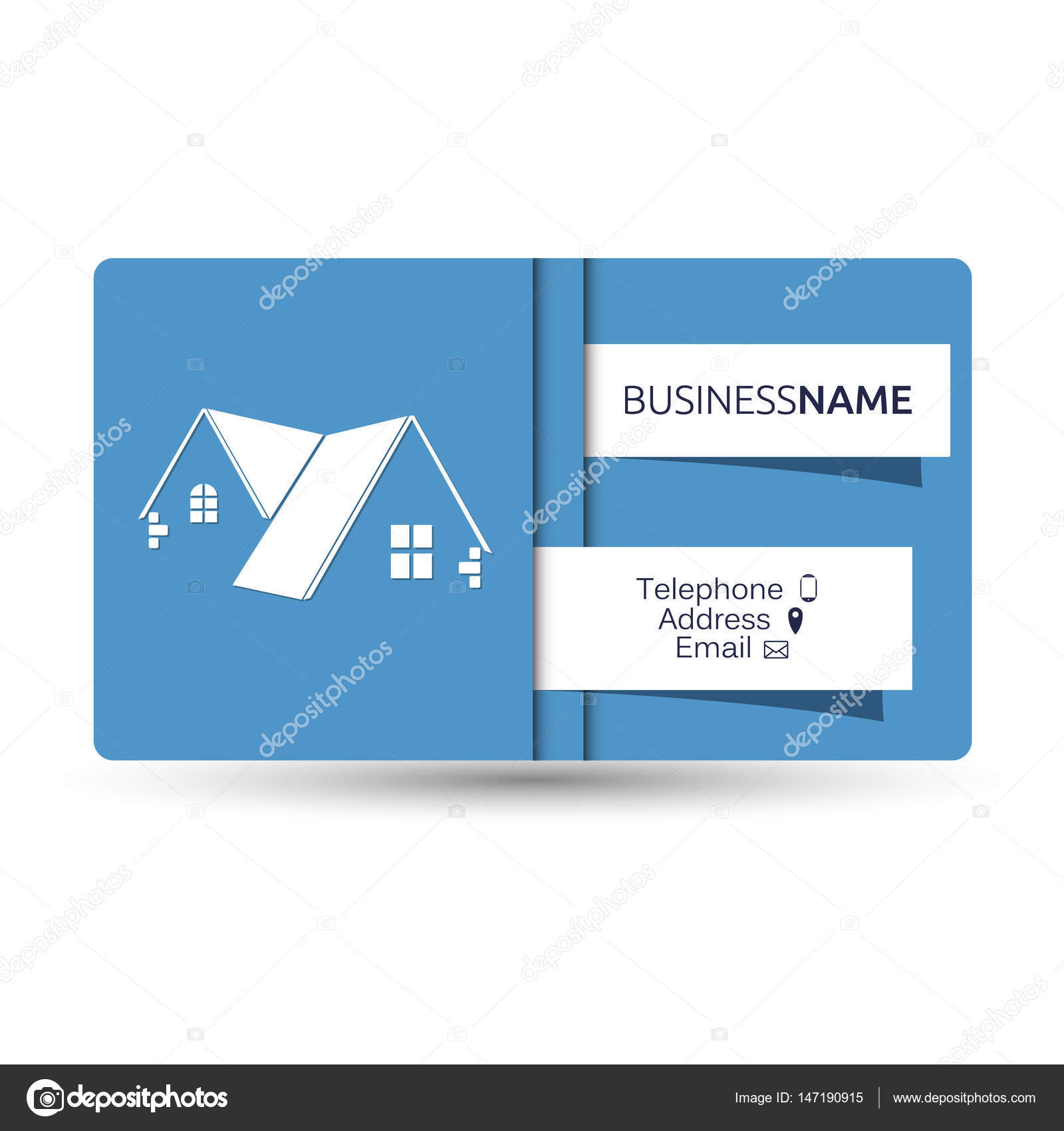 Business card for real estate and construction of houses stock business card for real estate and construction of houses concept vector by john1279 magicingreecefo Image collections