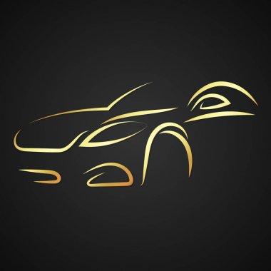 Car silhouette vector
