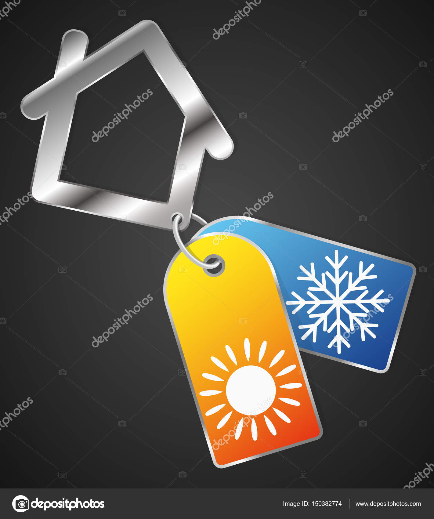 Heat And Cold In The House Symbol Stock Vector John1279 150382774