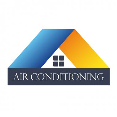 Air conditioner for home, a symbol for business clip art vector