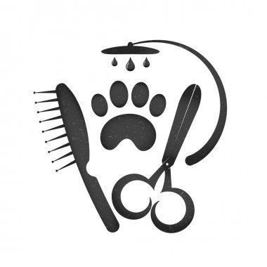 Symbol for a hairstyle of dogs