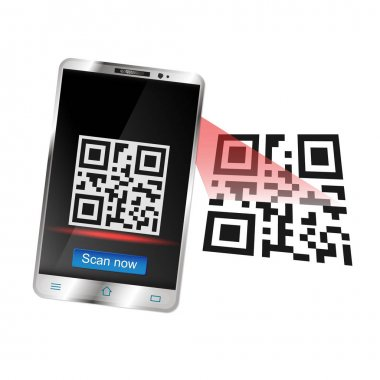 Smartphone scans the QR code