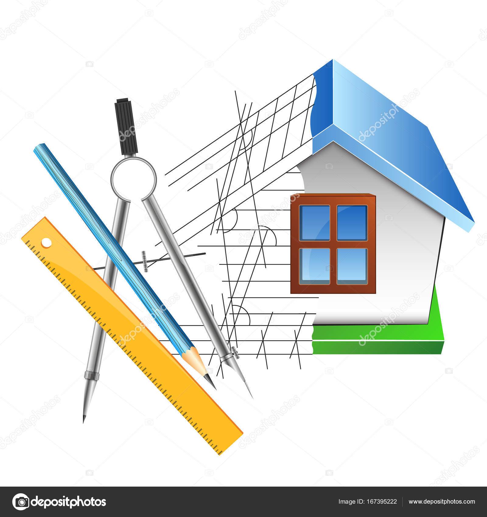 Haus Zeichnen Und Entwerfen Stockvektor C John1279 167395222