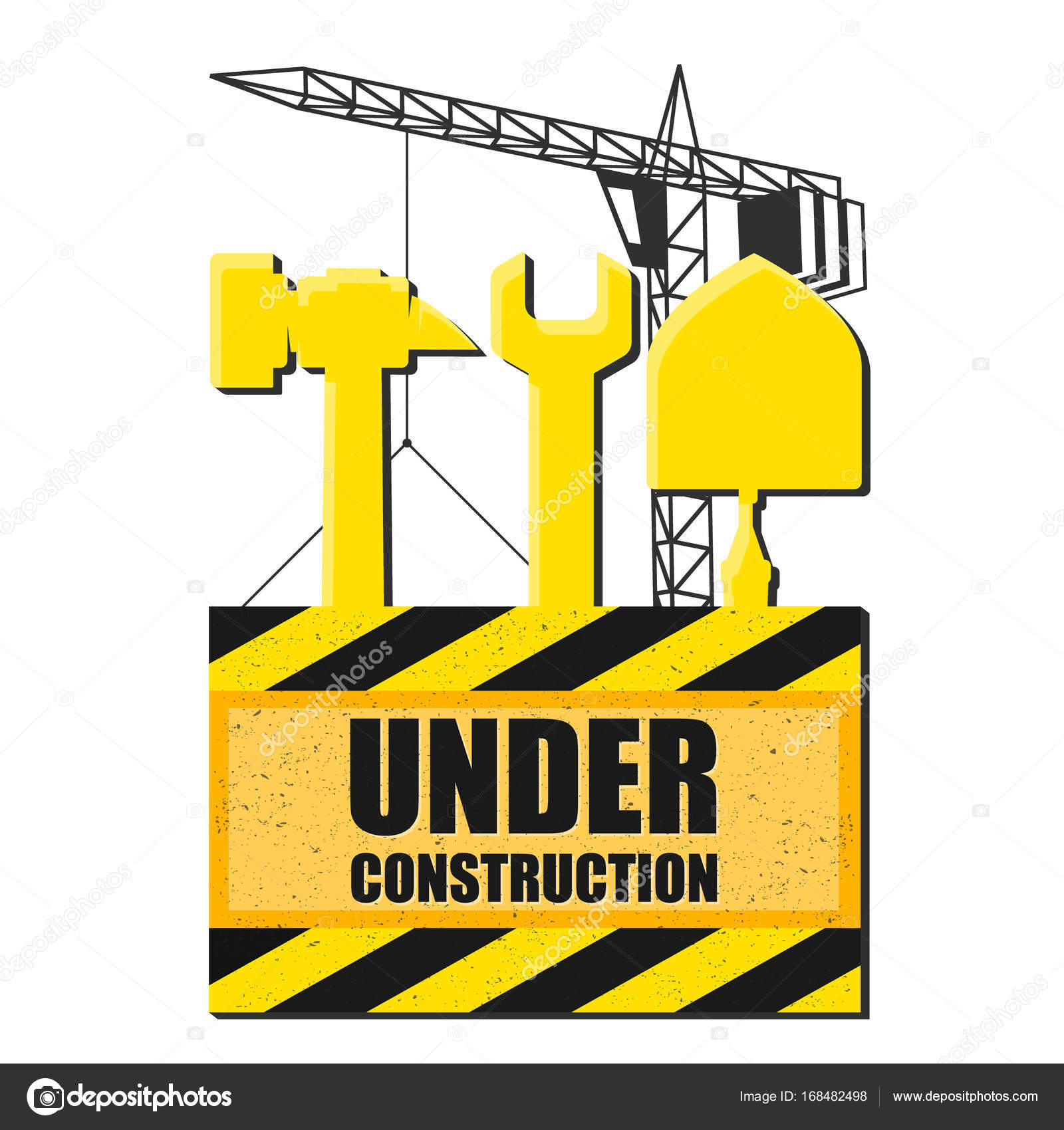 Symbol of construction with tools stock vector john1279 168482498 barrier for construction with tools vector by john1279 buycottarizona Image collections