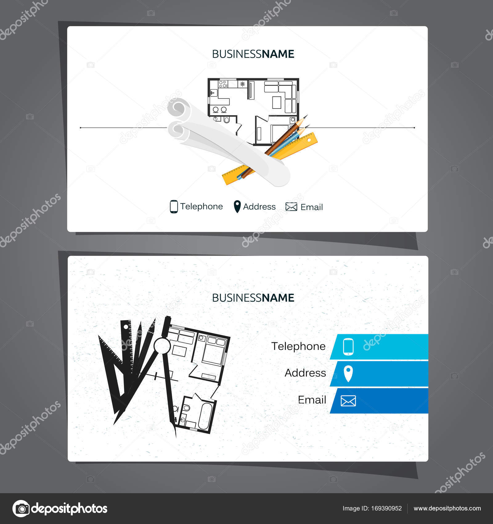 Business cards for construction choice image free business cards architecture and construction business card stock vector architecture and construction business card for the engineer vector magicingreecefo Images