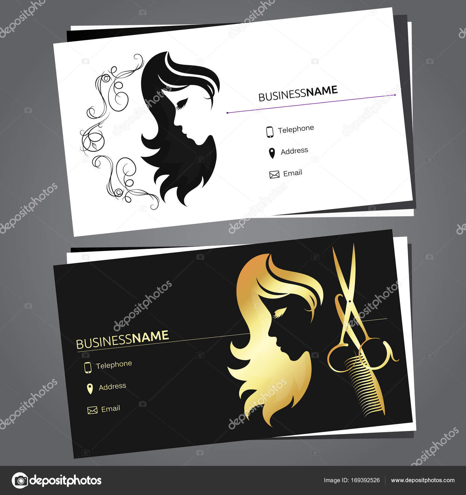 Business card for beauty salon — Stock Vector © john1279 #169392526