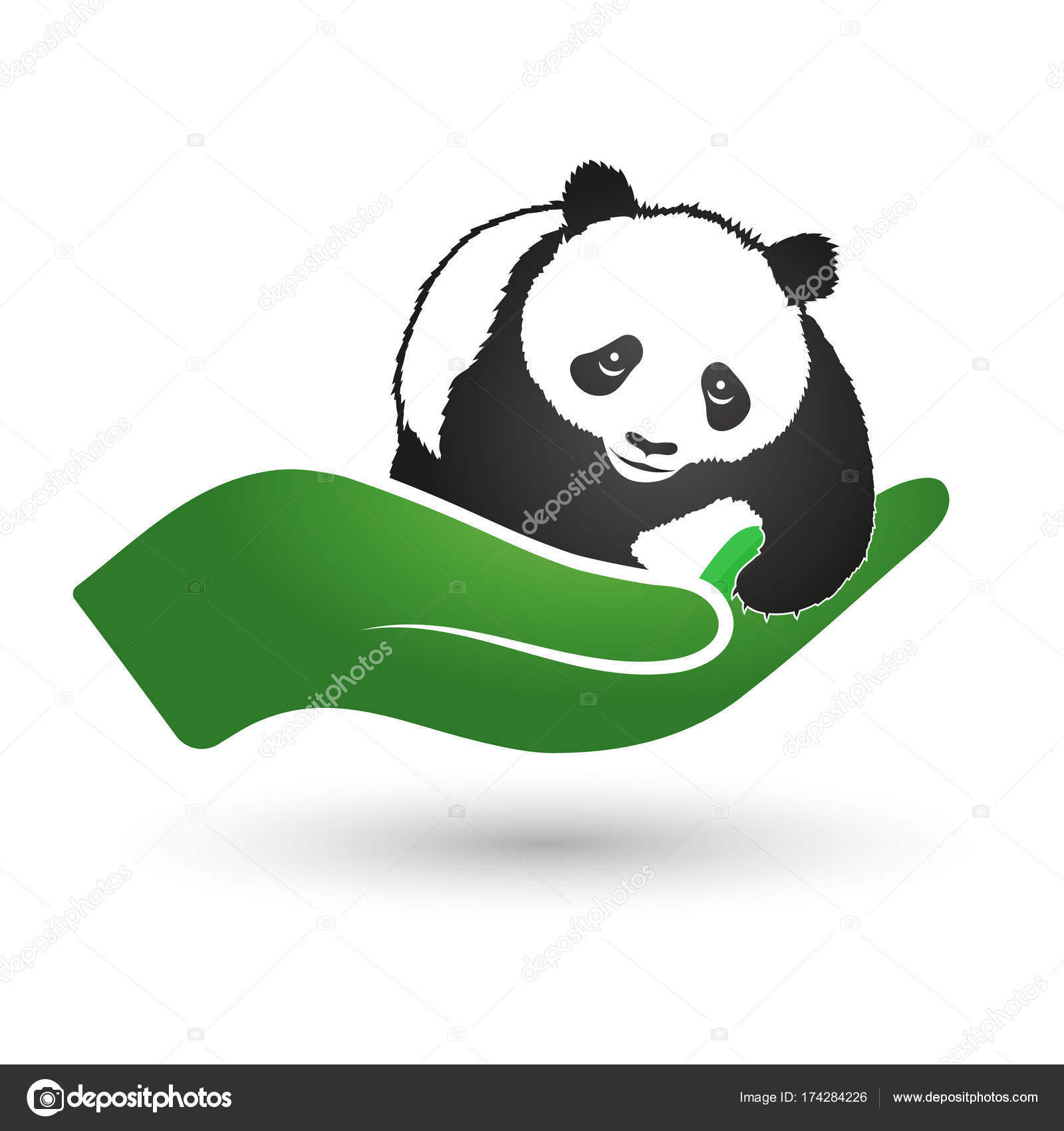 Panda in hand symbol of ecology and nature protection stock panda in hand symbol of ecology and nature protection stock vector biocorpaavc