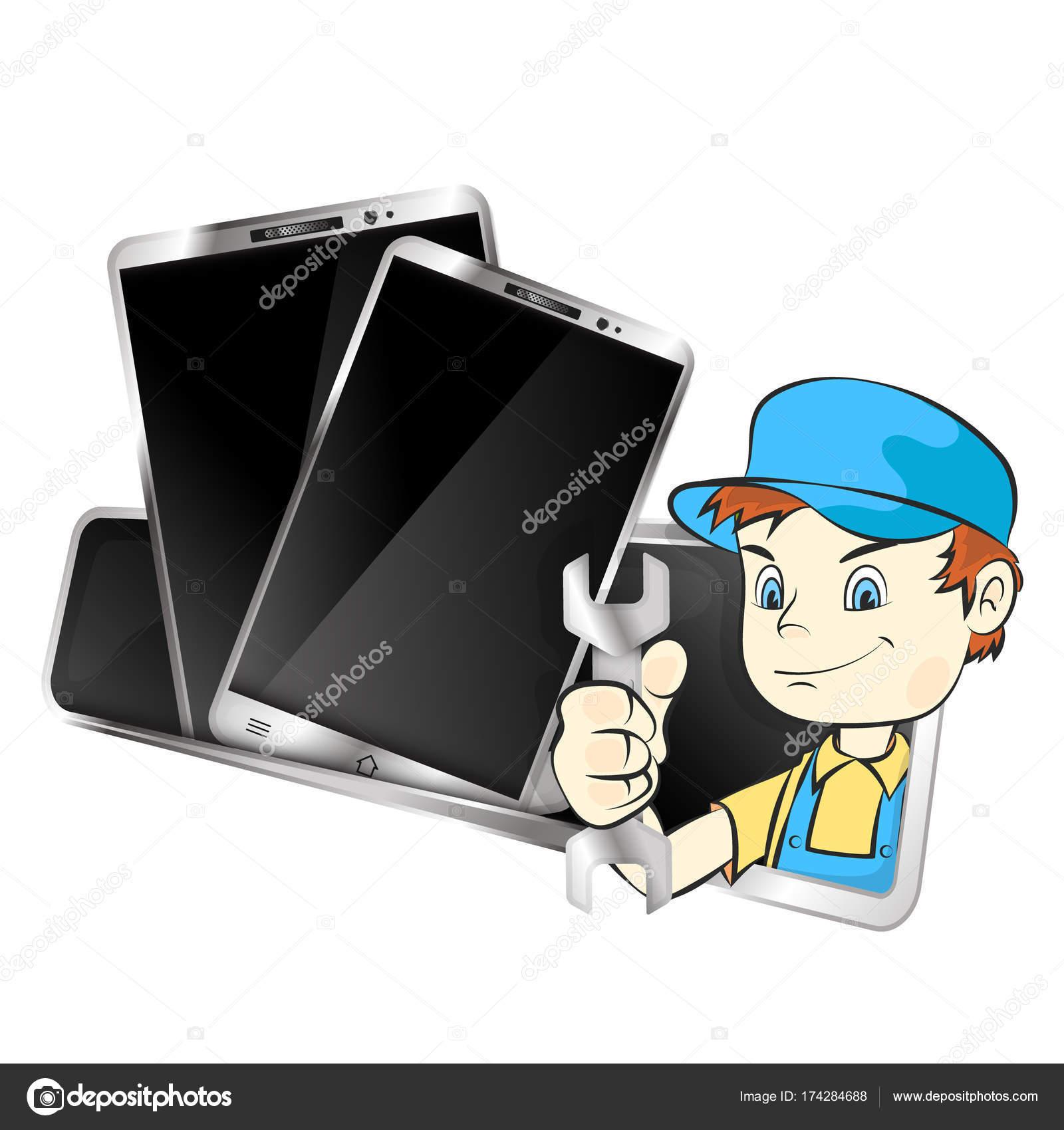 Мастер по ремонту мобильных телефонов и смартфонов — Вектор от john1279 024226c185d