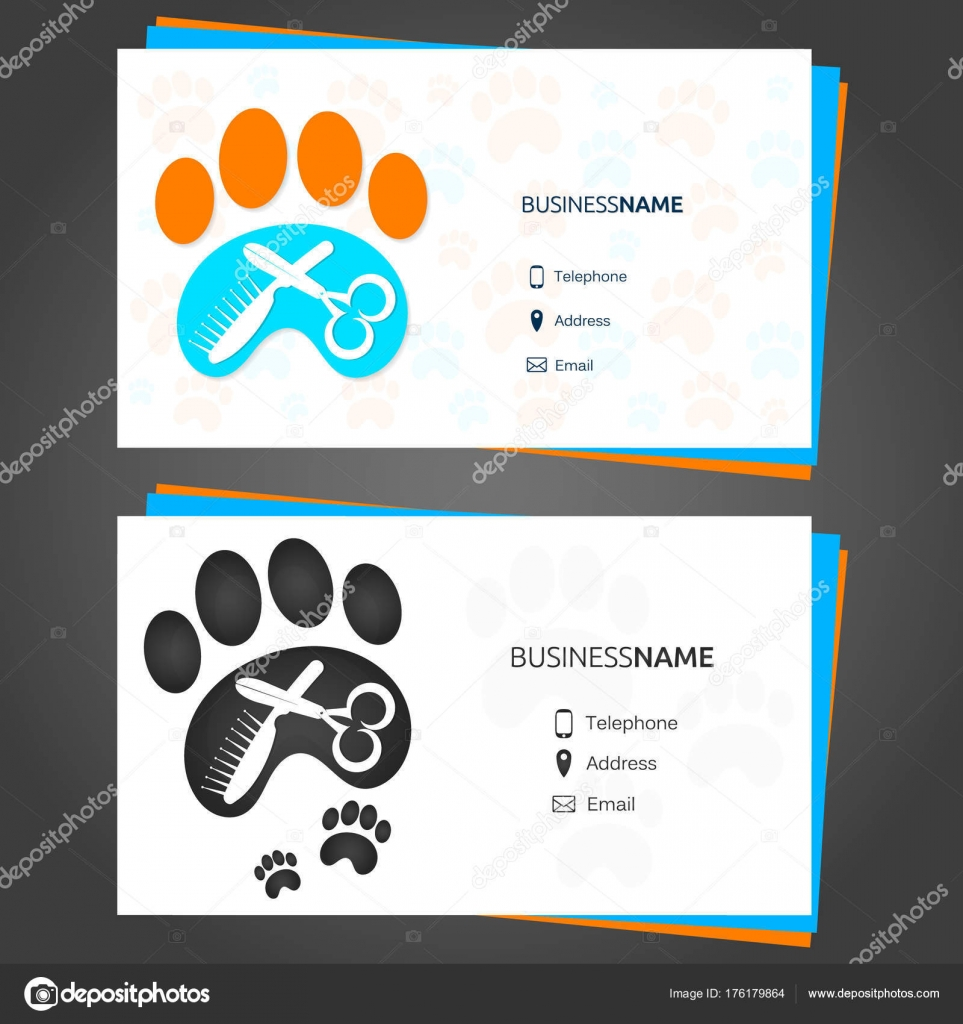 Barber animal business card — Stock Vector © john1279 #176179864