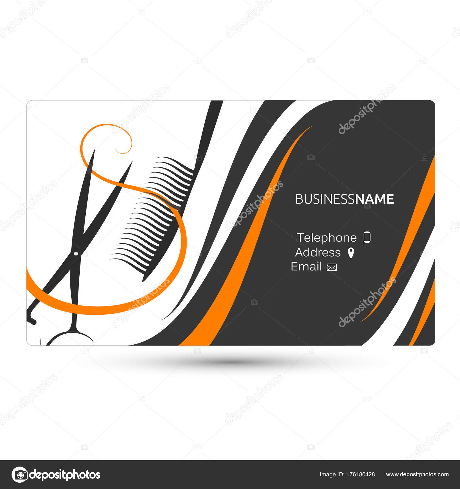 Hairdressing salon business card — Stock Vector © john1279 #176180428