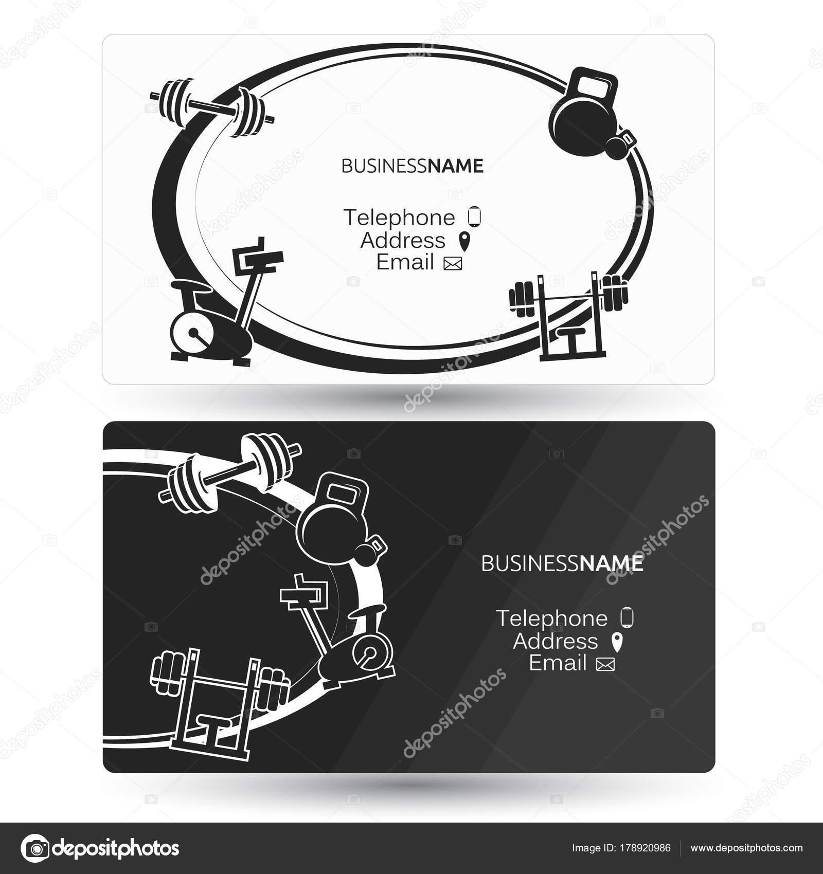 Carte De Visite Dun Centre Gymnastique Et Fitness Vecteur Par John1279