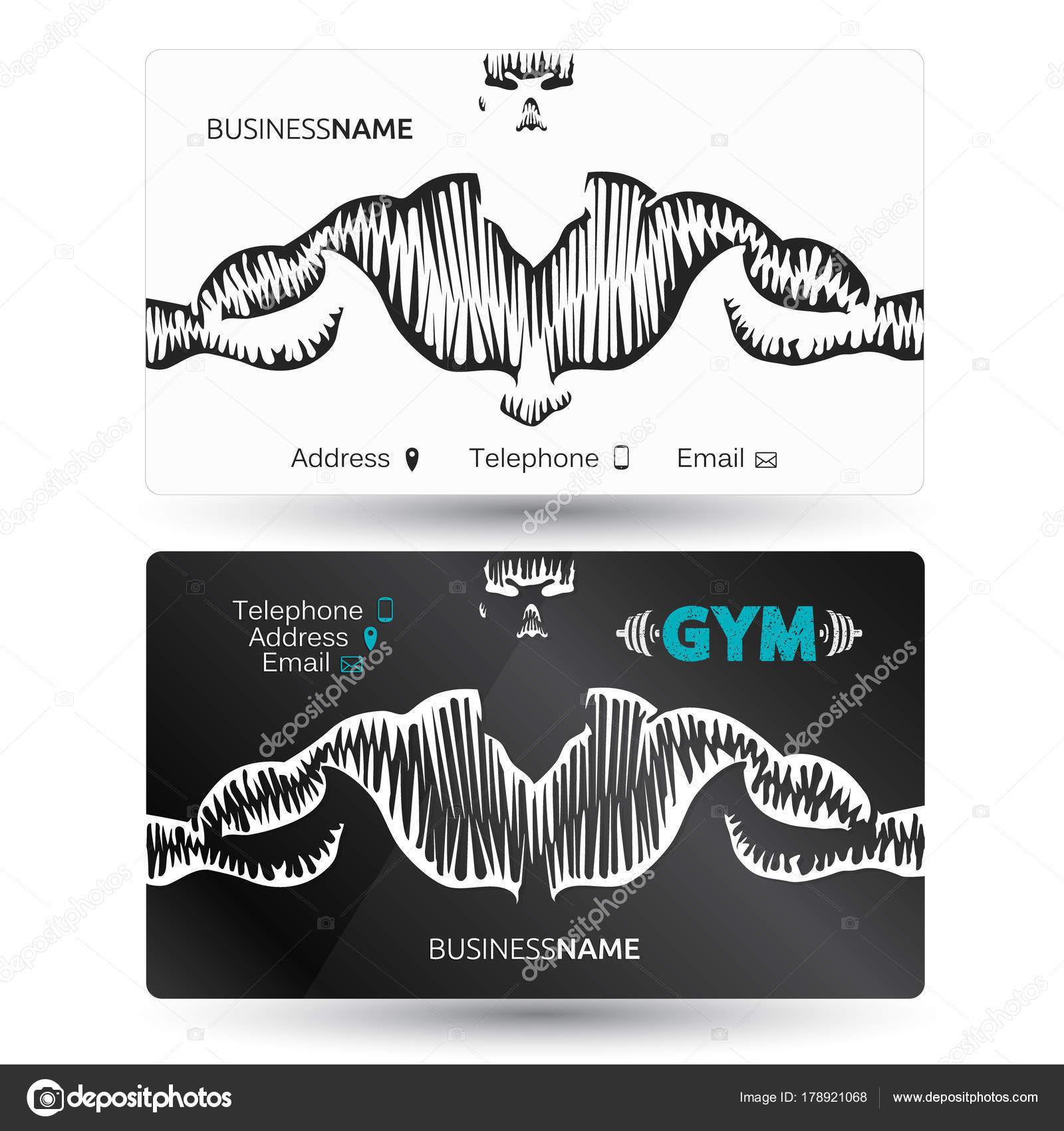 Carte De Visite Pour La Gymnastique Et Fitness Image Vectorielle