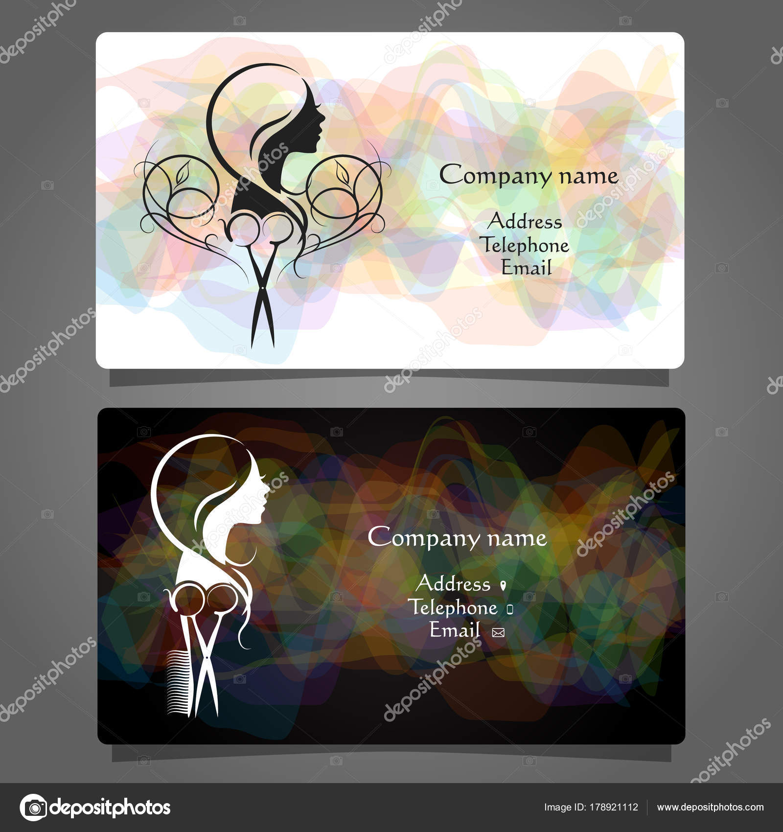 Business card beauty salon and hairdresser stock vector john1279 business card beauty salon and hairdresser stock vector reheart Choice Image