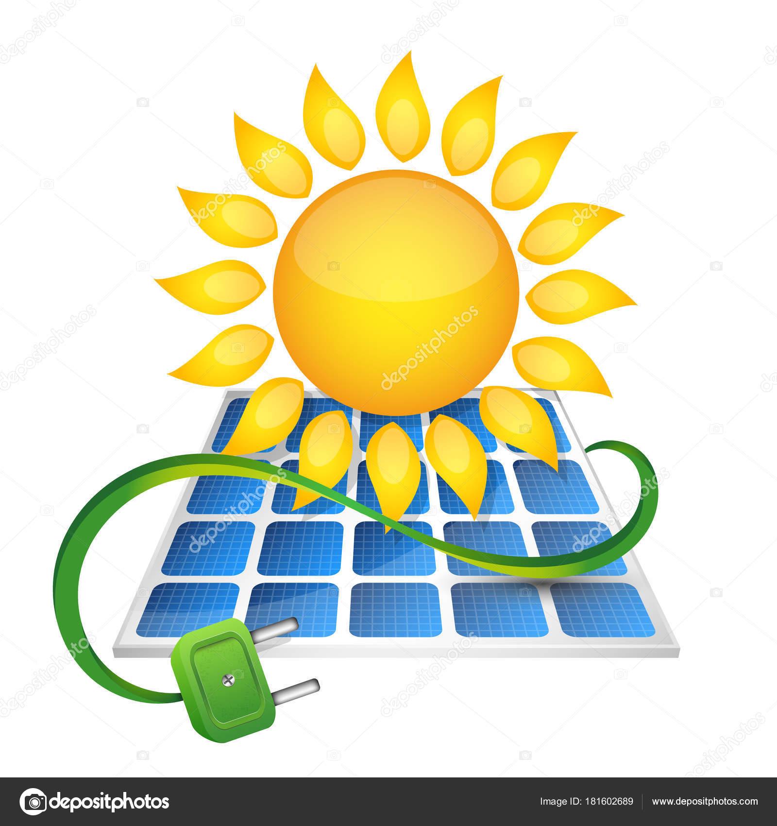 Electricidad De Paneles Solares Vector De Stock