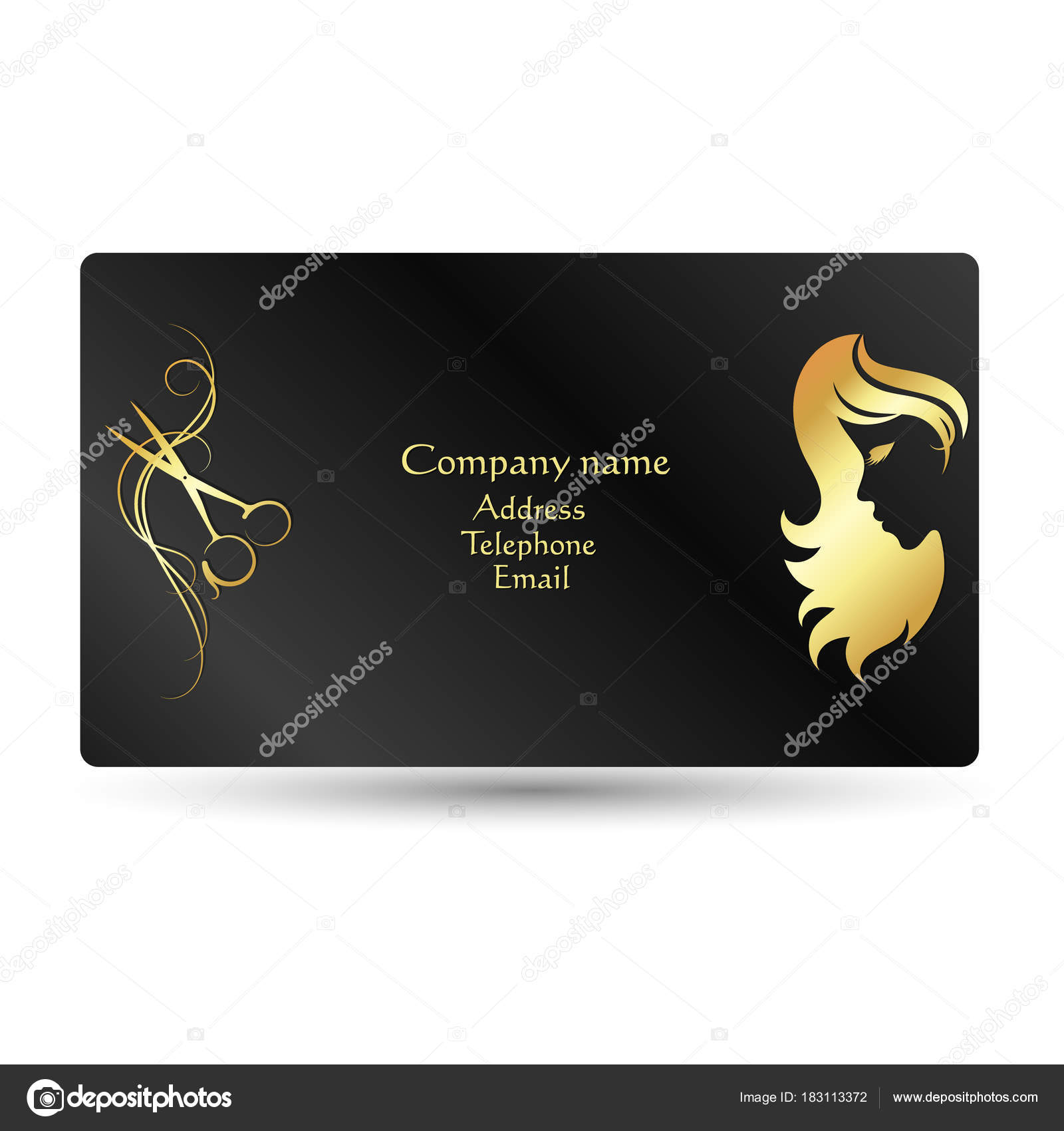 Business card beauty salon and hairdresser — Stock Vector © john1279 ...
