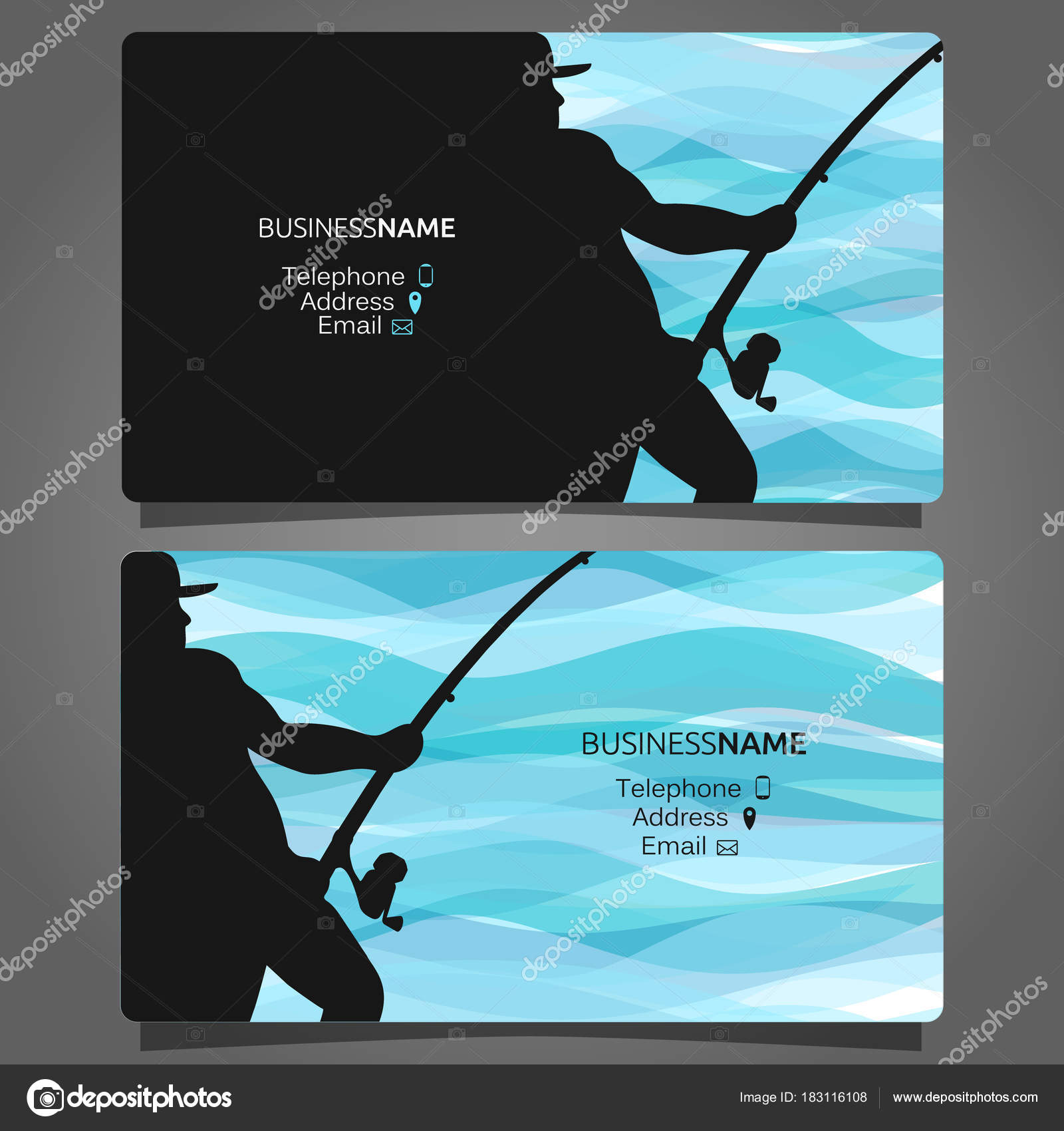 Shop fishing business card — Stock Vector © john1279 #183116108