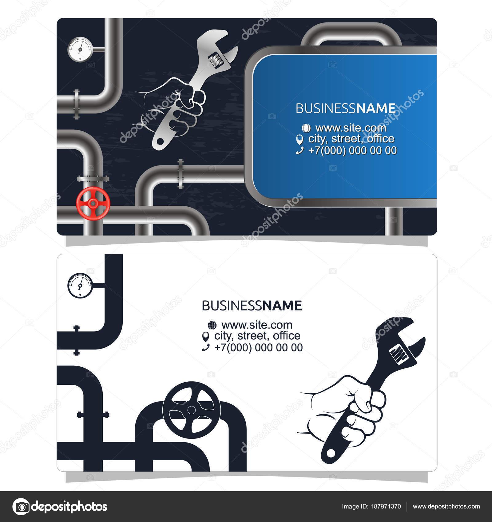 Plomberie Et Tuyaux Concept De Carte De Visite Image