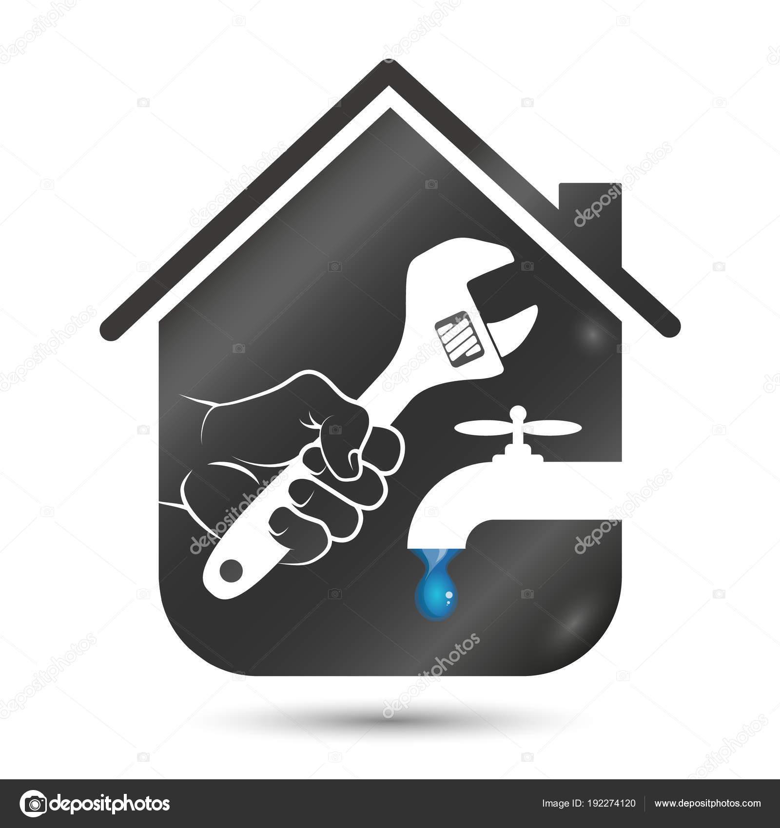 Repair Plumbing Or Running Water In The House Stock Vector