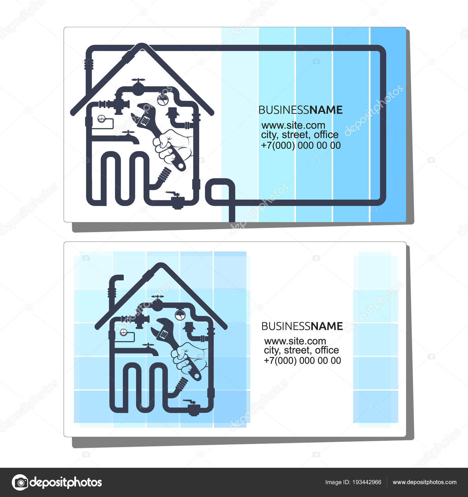 Carte De Visite Pour La Plomberie Et Rparation Pipelines Vecteur Par John1279