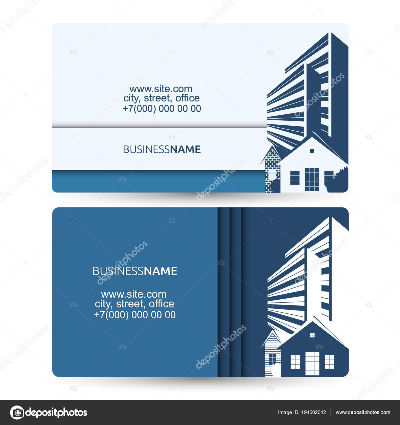 business card sale of houses and building stock vector john1279
