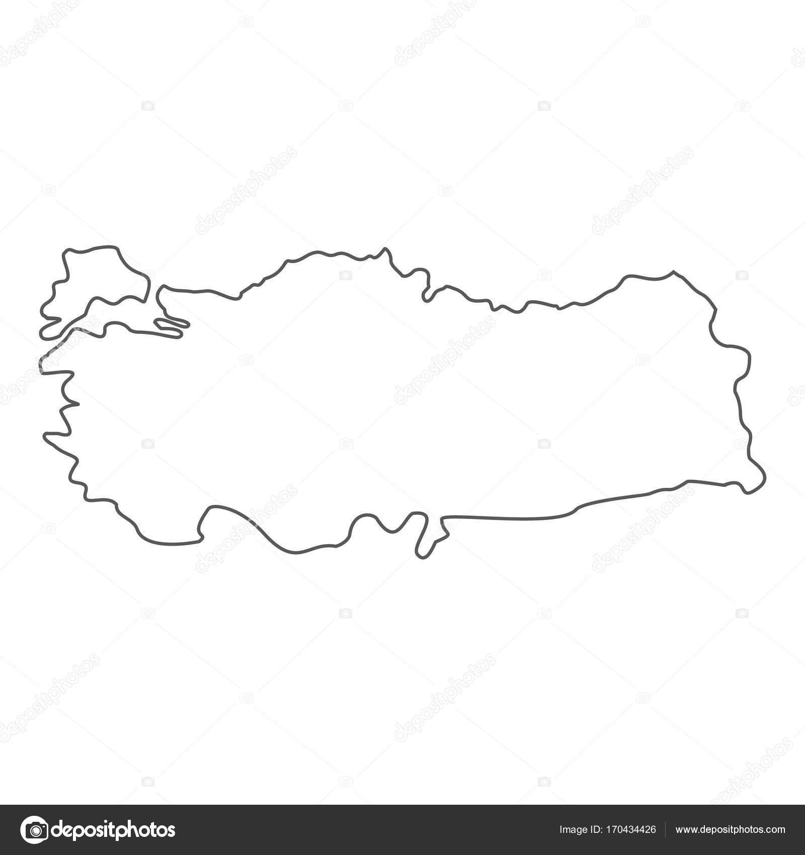 Turkey map icon vector line — Stock Vector © anatolir #170434426