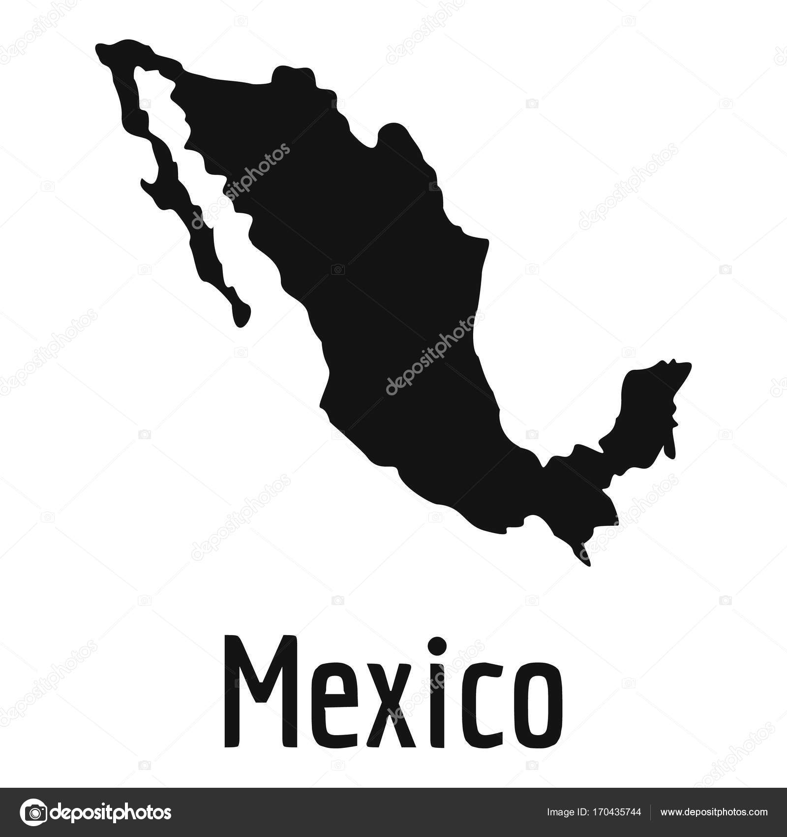 Mexico Map In Black Vector Simple Stock Vector C Anatolir 170435744