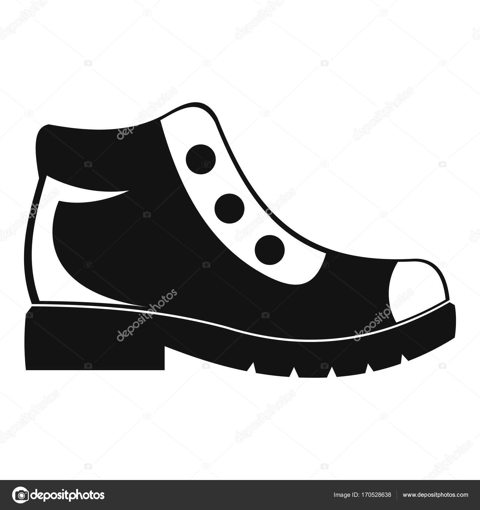 c5568123 Vector: botas vectoriales | Trekking botas icono vector simple ...