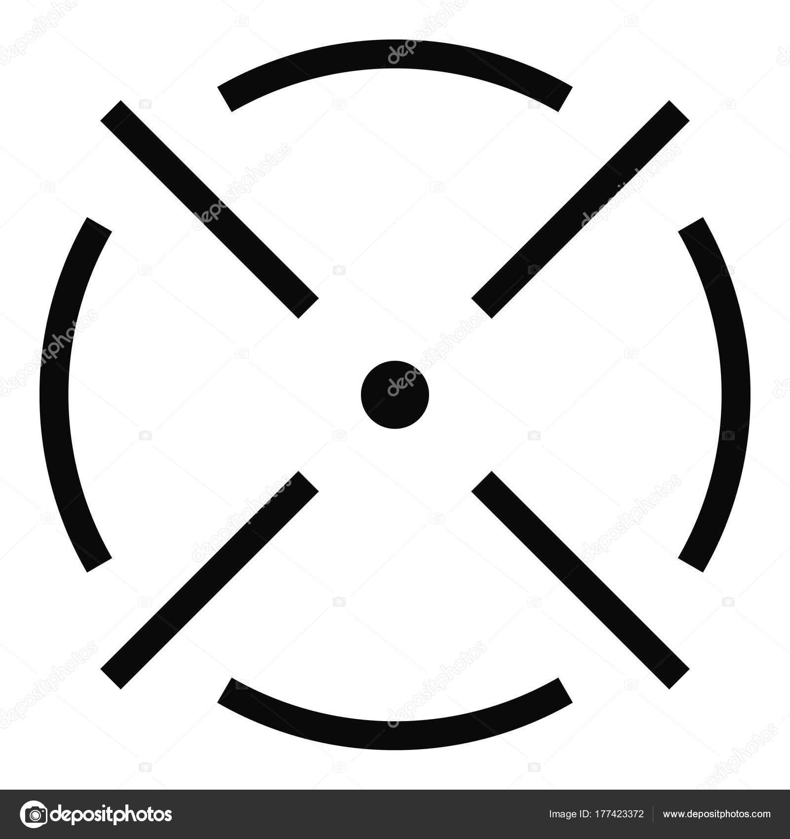 Enge Radar Symbol Einfachen Stil Stockvektor Anatolir 177423372