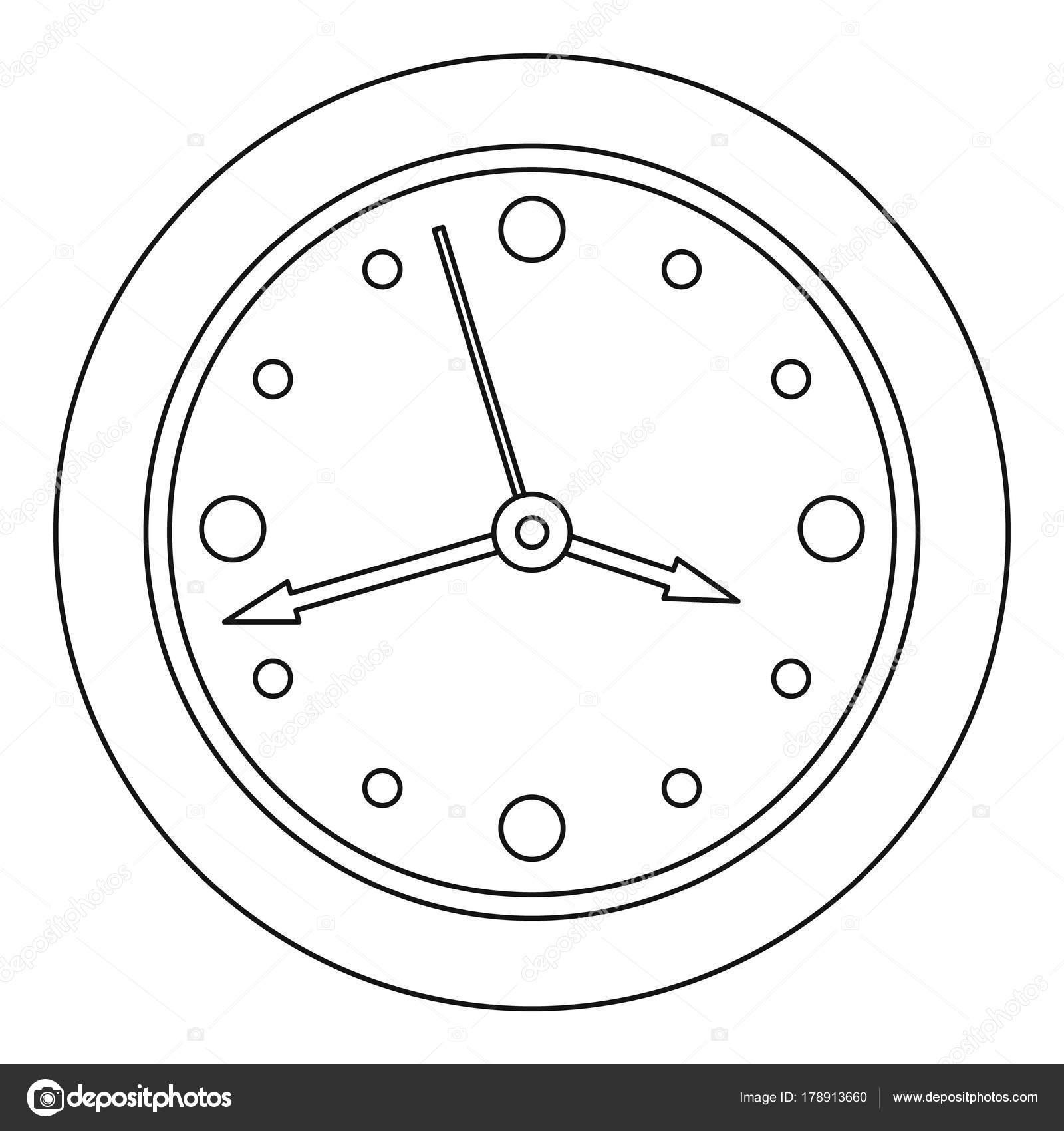 Imágenes Reloj Cuadrado Para Colorear Icono De La Cara Del Reloj